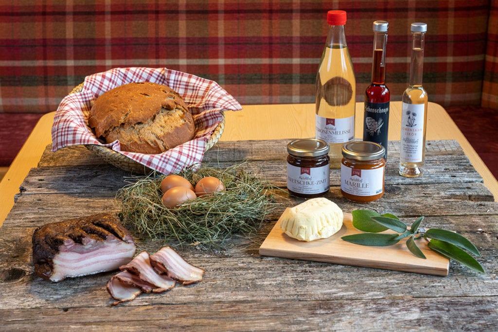 Hofeigene Produkte · Bauernhofurlaub & Urlaub am Bauernhof Marchlhof in Untertauern