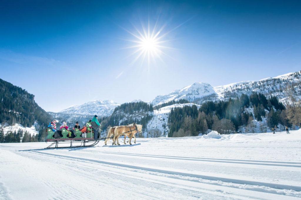 Pferdeschlittenfahrten · Winterurlaub Obertauern